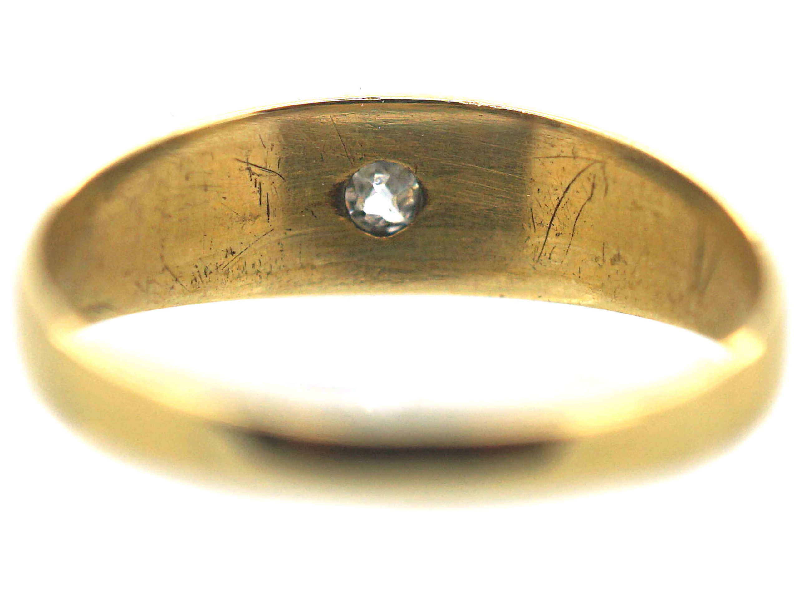 Victorian 18ct Gold Ring set with a Diamond