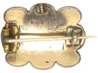 Georgian Amethyst Paste Brooch