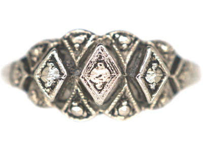 Art Deco Silver & Marcasite Ring