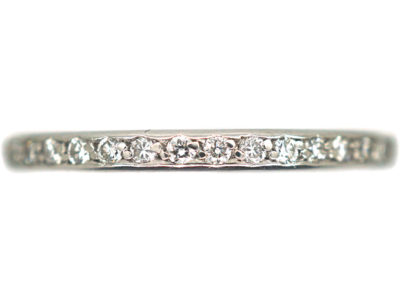 18ct White Gold & Diamond Half Eternity Ring