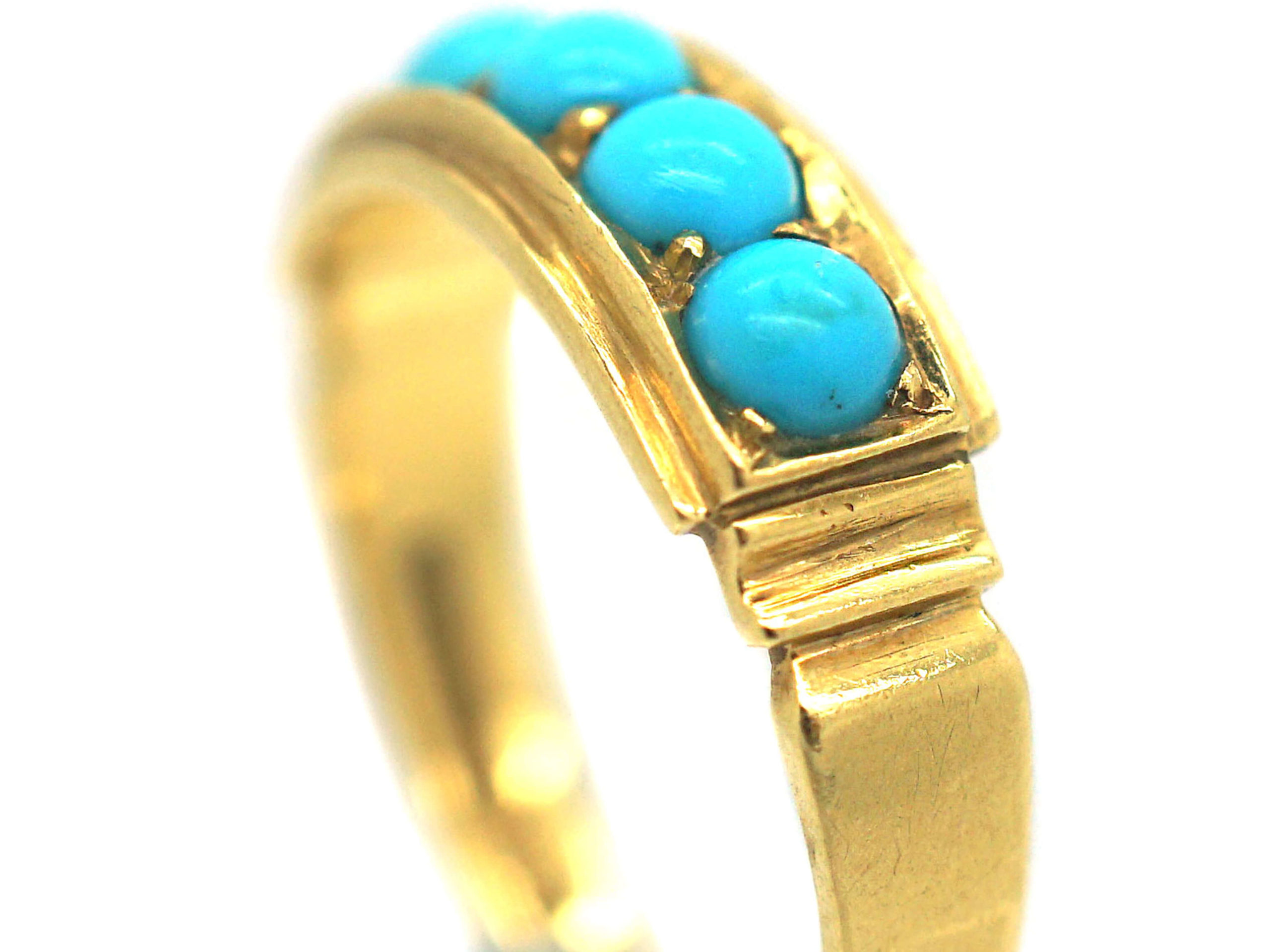 18ct Gold & Turquoise Five Stone Ring