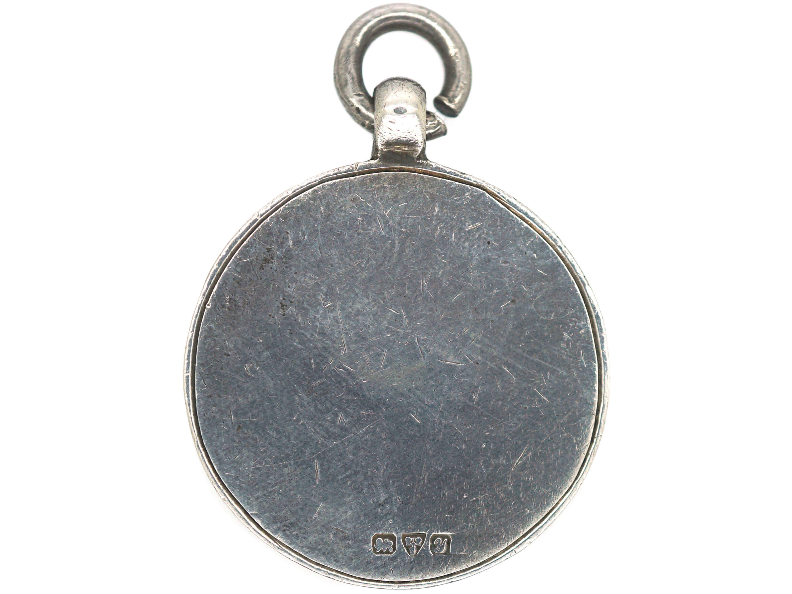 Art Deco Silver & Gold Overlay Pendant with Shield Motif