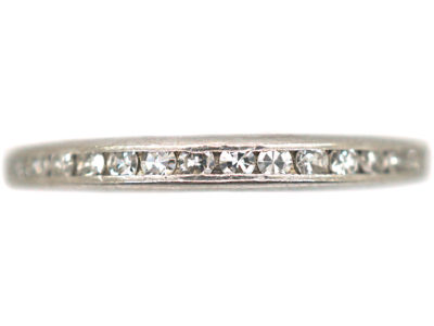 18ct White Gold Tramline Set Diamond Eternity Ring