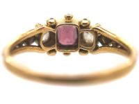 Regency 15ct Gold, Almandine Garnet & Diamond Ring