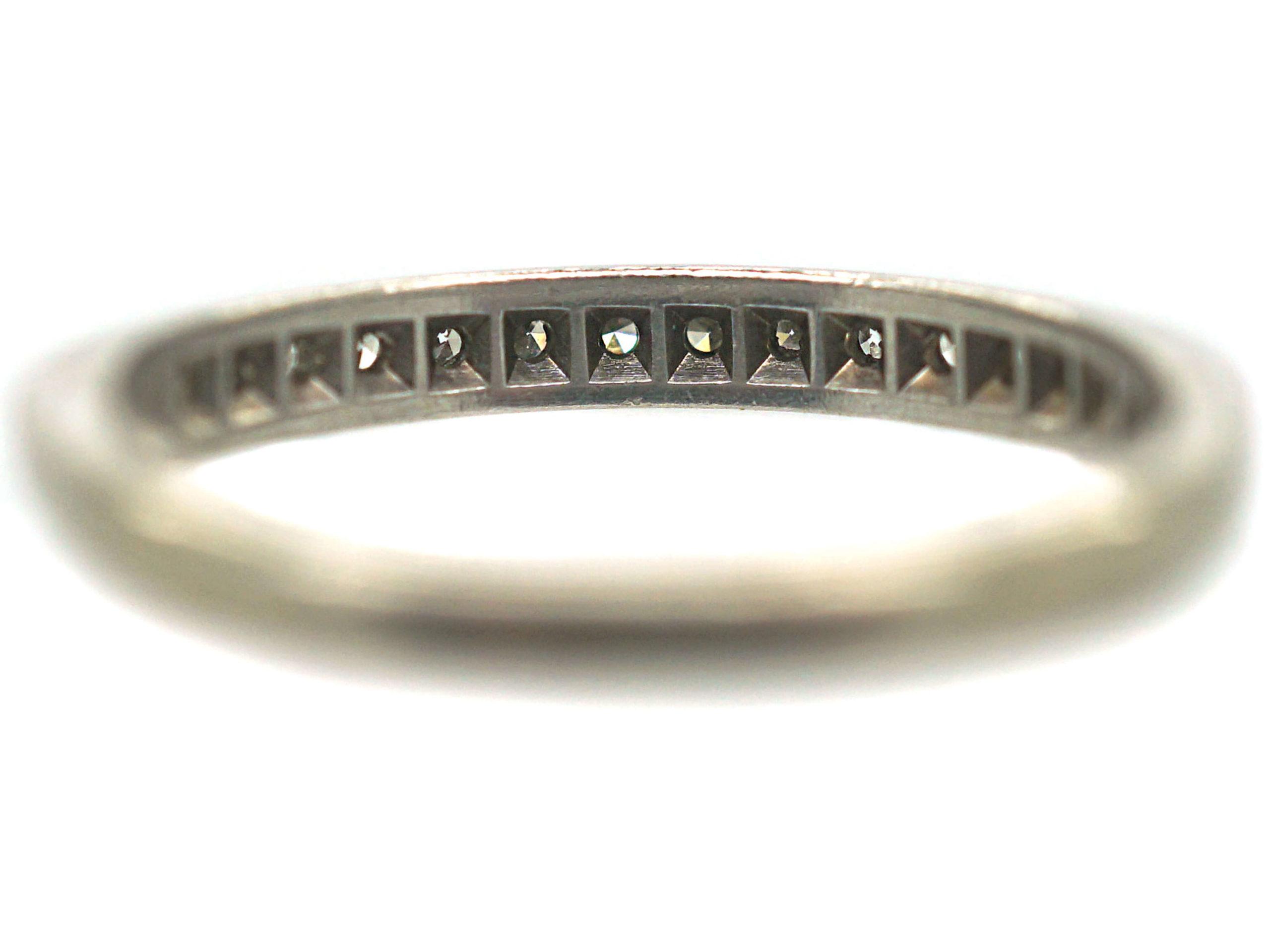 18ct White Gold Tramline Set Diamond Eternity Ring