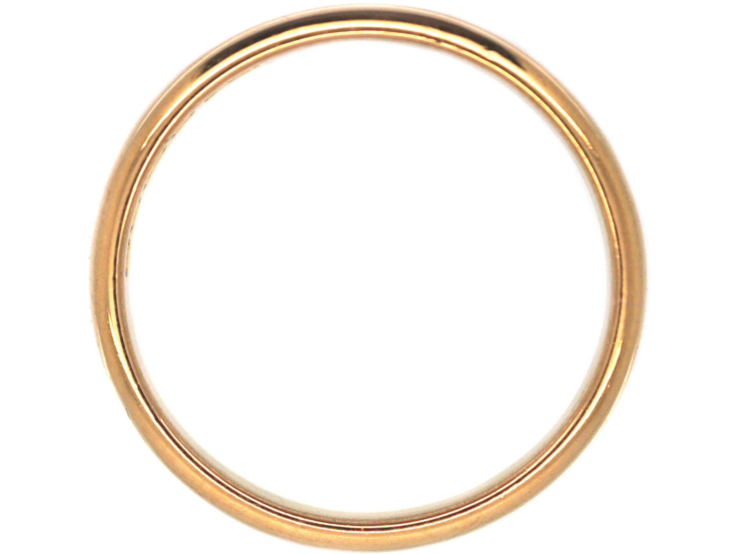 Art Deco 22ct Gold Wedding Ring
