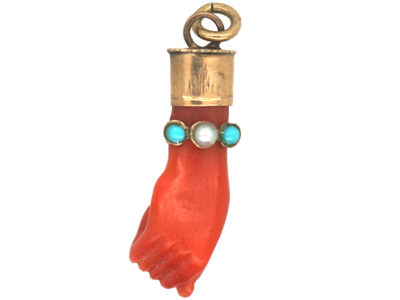 Victorian Coral Hand Charm