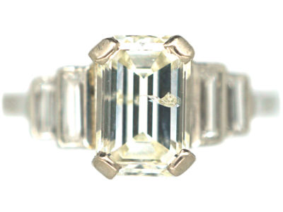 Art Deco Platinum Five Stone Diamond Ring
