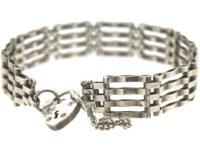 Silver Gate Bracelet with Padlock