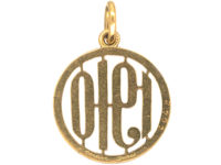 18ct Gold & White Enamel 1910 pendant by Cartier