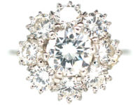 18ct White Gold Large Diamond Daisy Cluster Ring