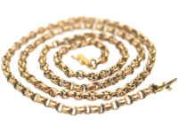 Victorian 9ct Gold Ornate Medium Length Chain