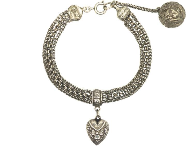 Victorian Silver Albertina Bracelet