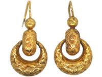 Victorian 15ct Gold Double Hoop Earrings
