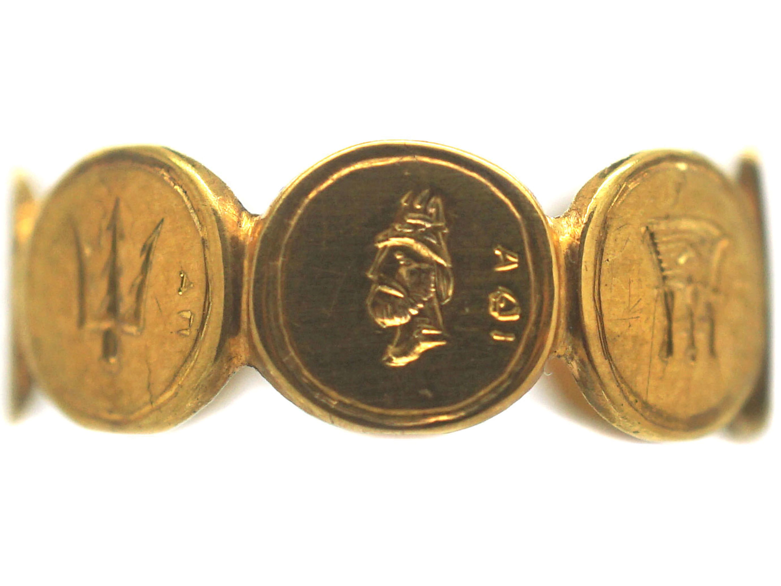 Georgian 18ct Gold Ring with Emblems of the Ionian Islands
