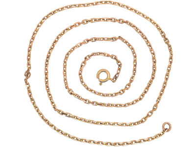 Edwardian 14ct Gold Medium Length Chain
