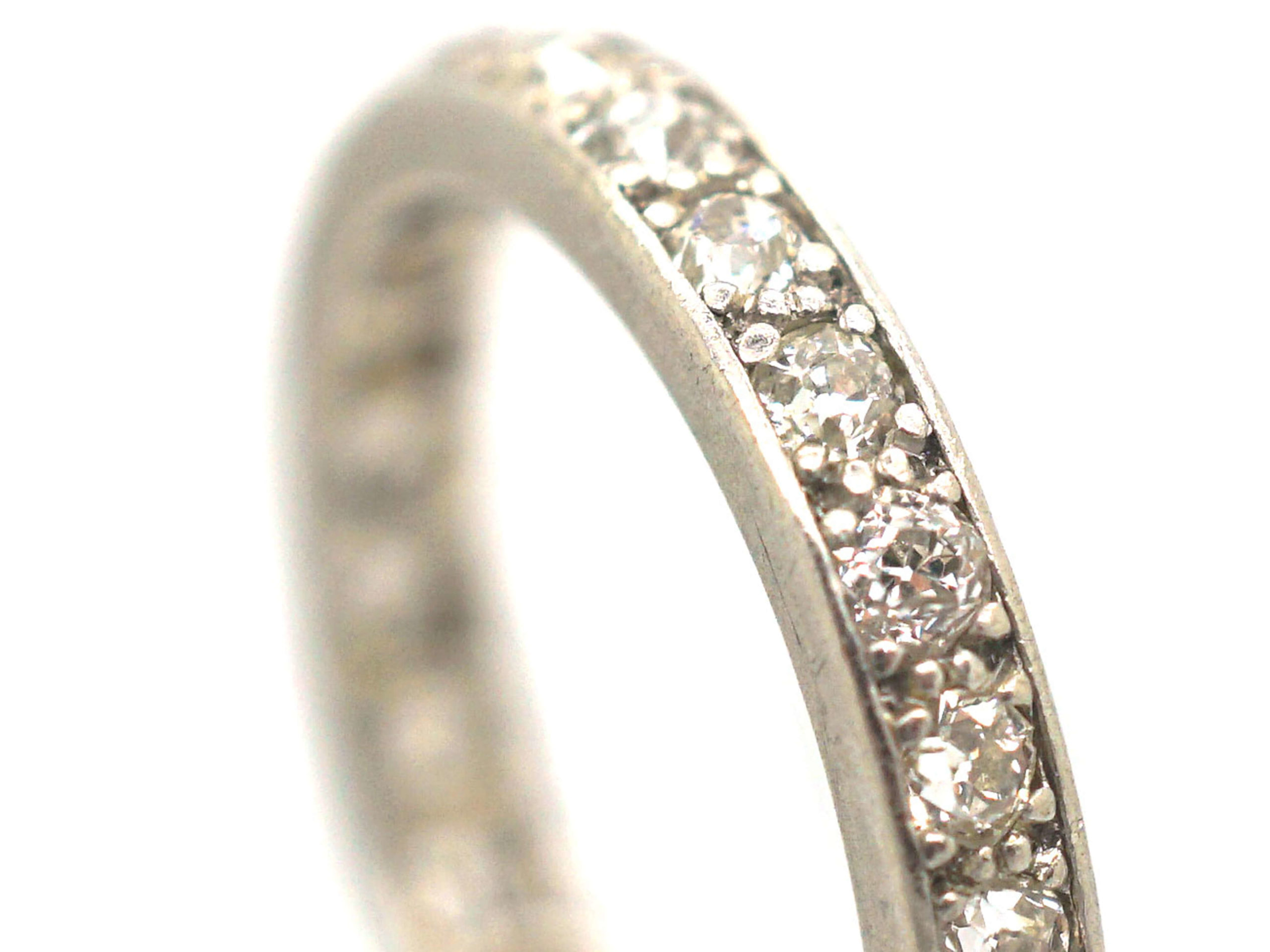 Art Deco 18ct White Gold & Diamond Eternity Ring