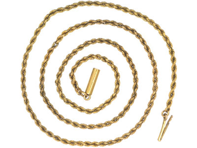 Edwardian 15ct Gold Prince of Wales Twist Chain