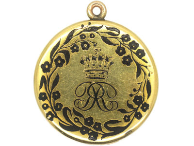 Victorian 18ct Gold & Black Enamel Earl's Locket