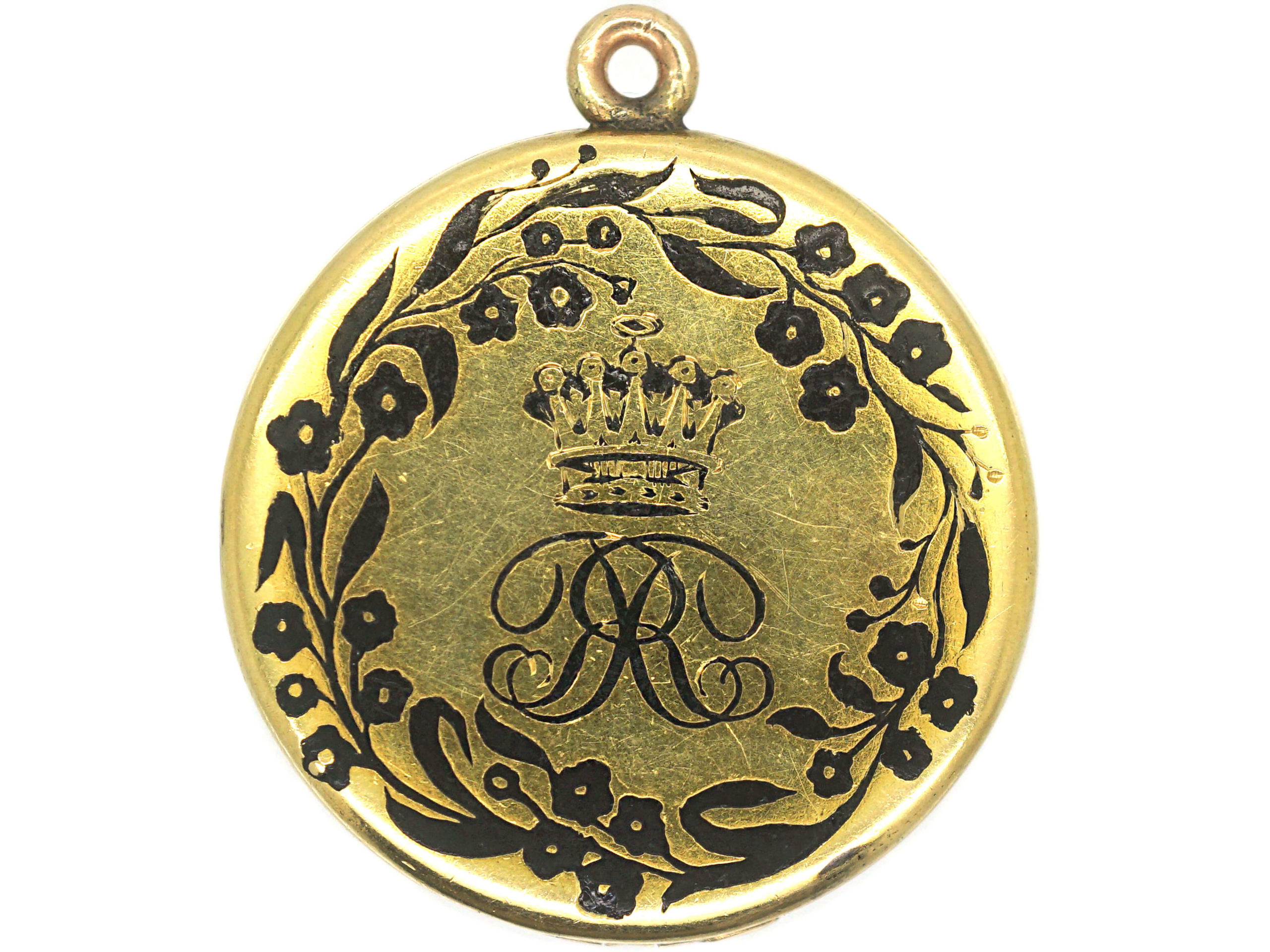 Victorian 18ct Gold & Black Enamel Earl's Locket