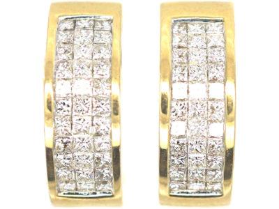 18ct Gold & Diamond Hoop Earrings