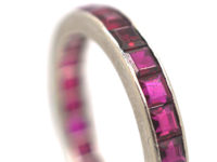 Art Deco 18ct White Gold & Ruby Eternity Ring