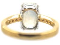 18ct Gold Yellow Ceylon Sapphire & Diamond Ring
