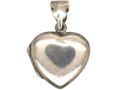 Silver Heart Shaped Locket