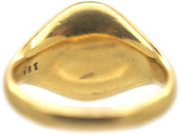 Edwardian 18ct Gold Signet Ring with Griffin Intaglio