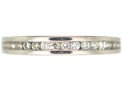 18ct White & Diamond Gold Eternity Ring