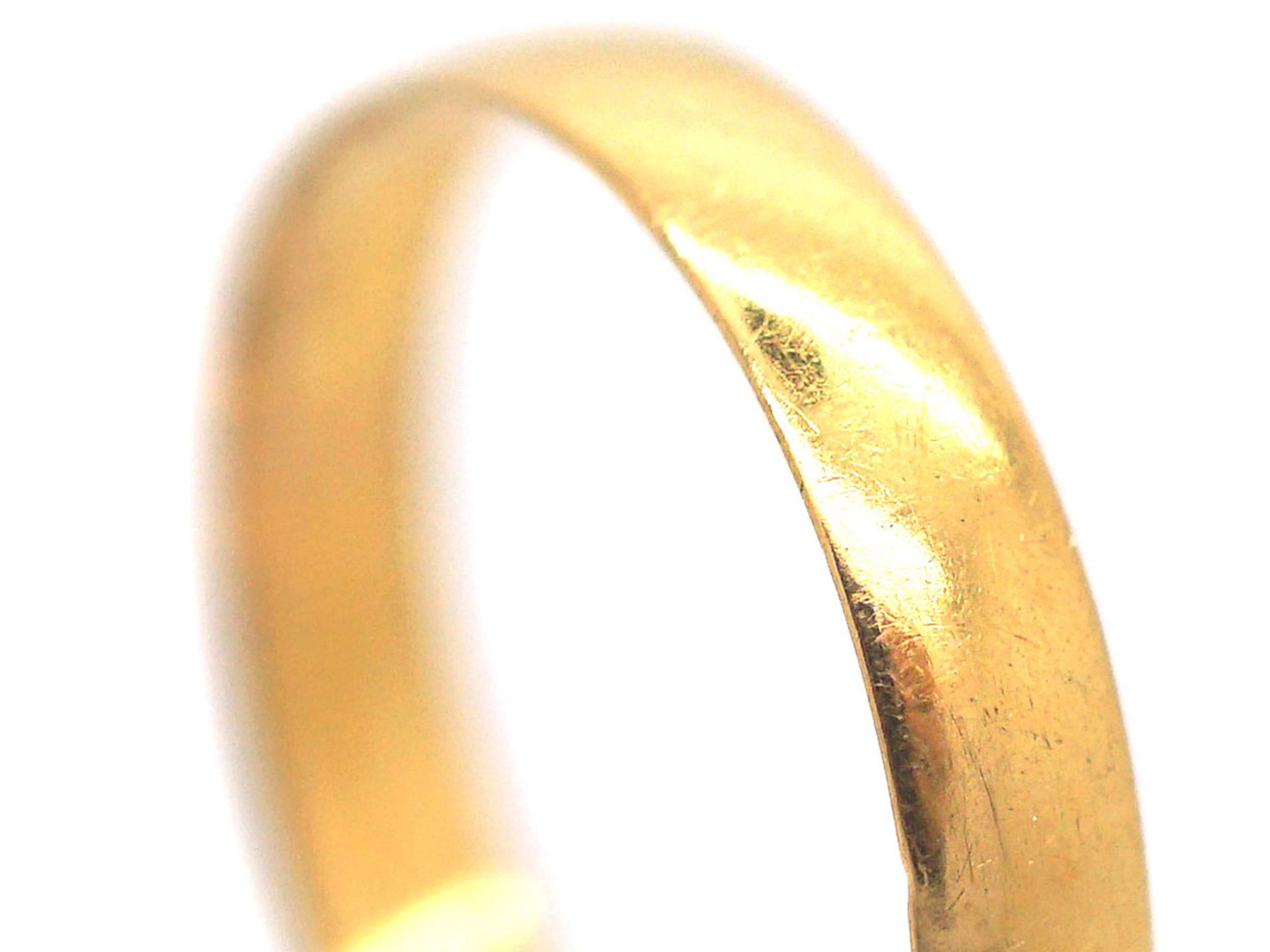 Victorian 22ct Gold Wedding Ring made in 1889
