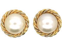 18ct Gold & Cultured Pearl Screw on Earrings
