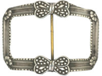 Large Silver Georgian Buckle