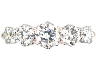 18ct White Gold & Diamond Five Stone Ring