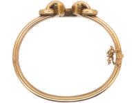 Victorian 9ct Gold Horse Shoe Bangle