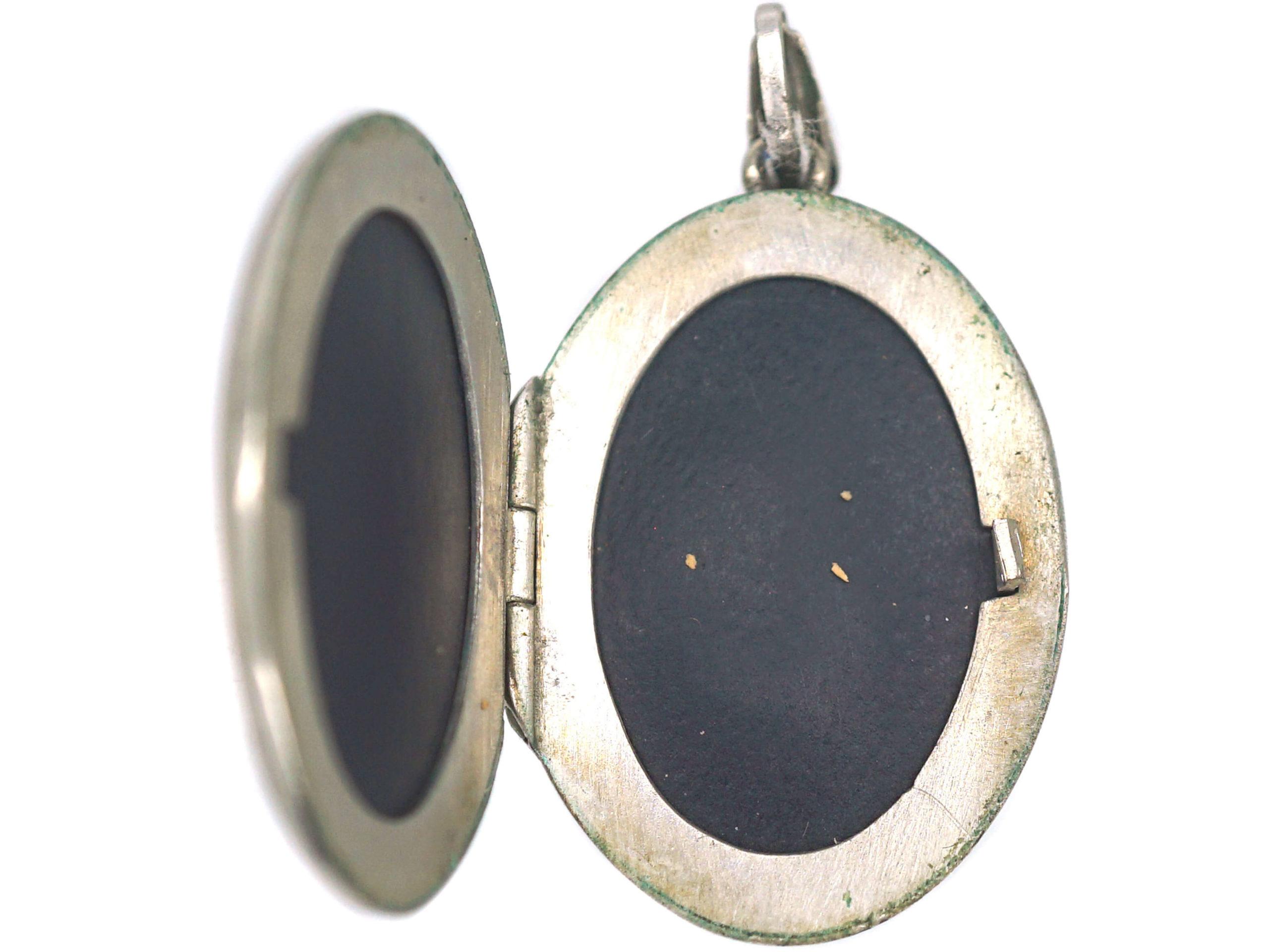 Silver Oval Locket