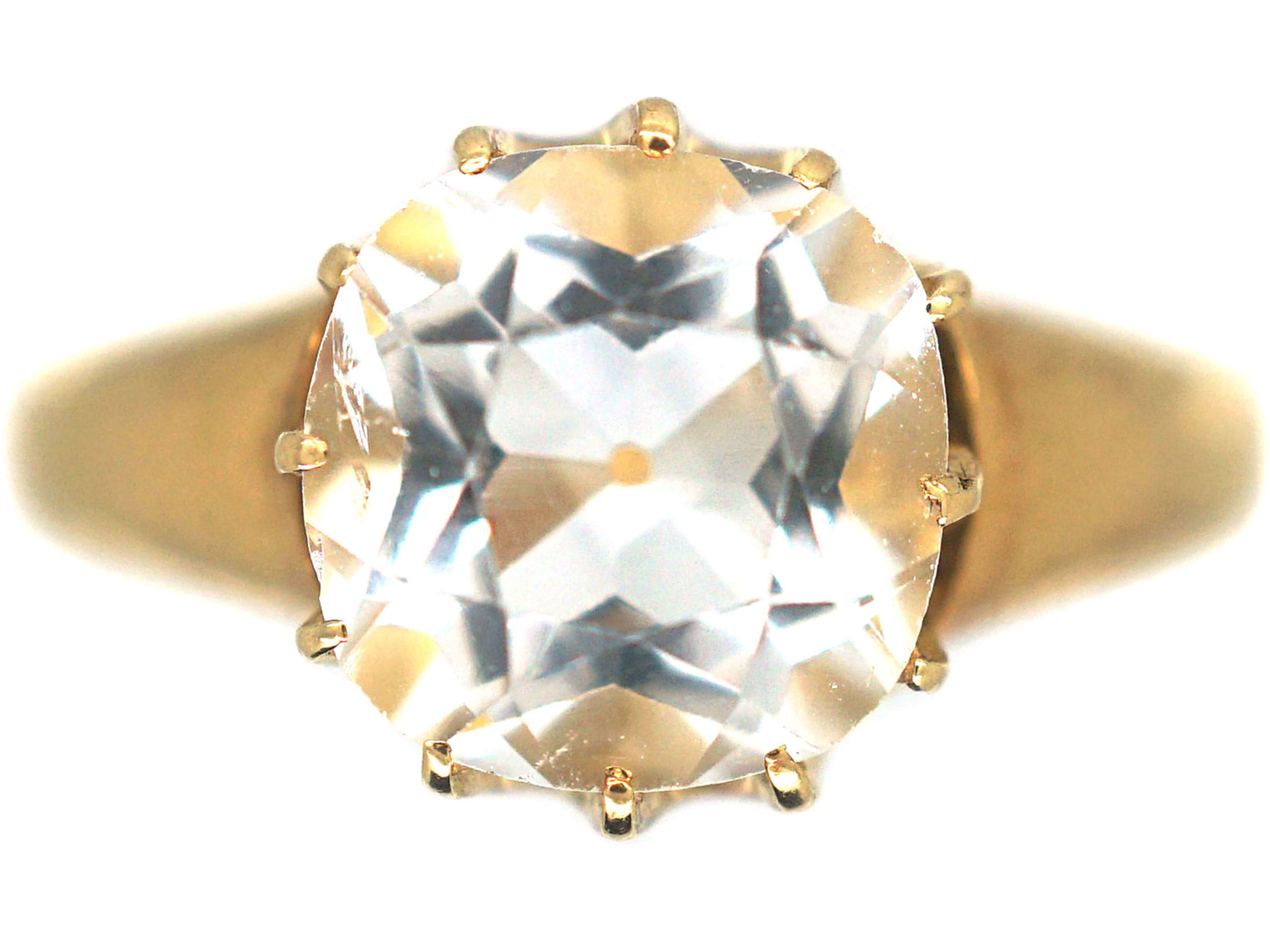 Victorian 18ct Gold & Rock Crystal Ring