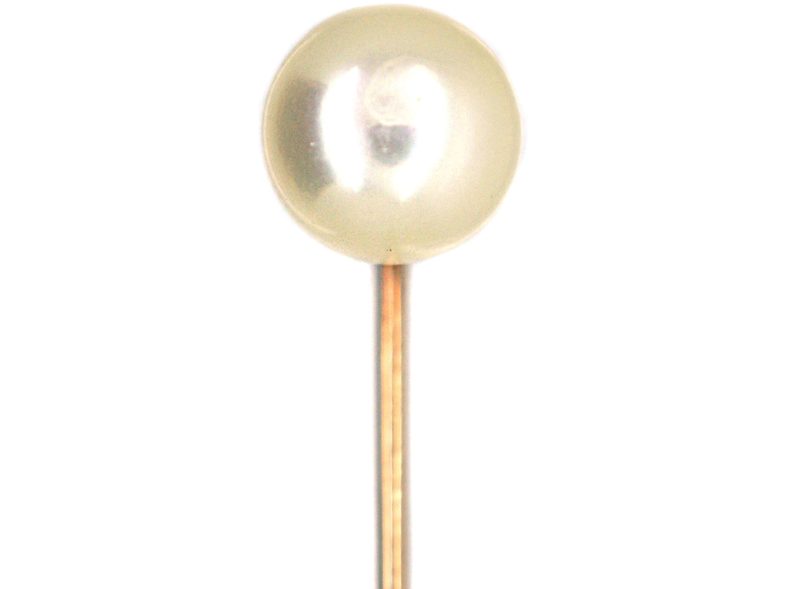 9ct Gold Large Cultured Pearl Tie Pin