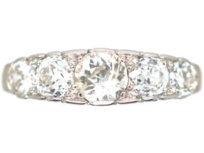 Edwardian Platinum & Diamond Five Stone Ring