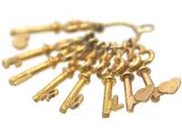 9ct Gold Keys Pendant Spelling Carol