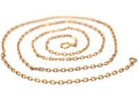 Edwardian 14ct Gold Medium Length Chain