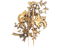 Early 19th Century 15ct Gold,  Rose Diamond Large Floral Spray Brooch