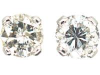 18ct White Gold & Diamond Stud Earrings
