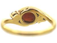 18ct Gold, Garnet and Diamond Ring