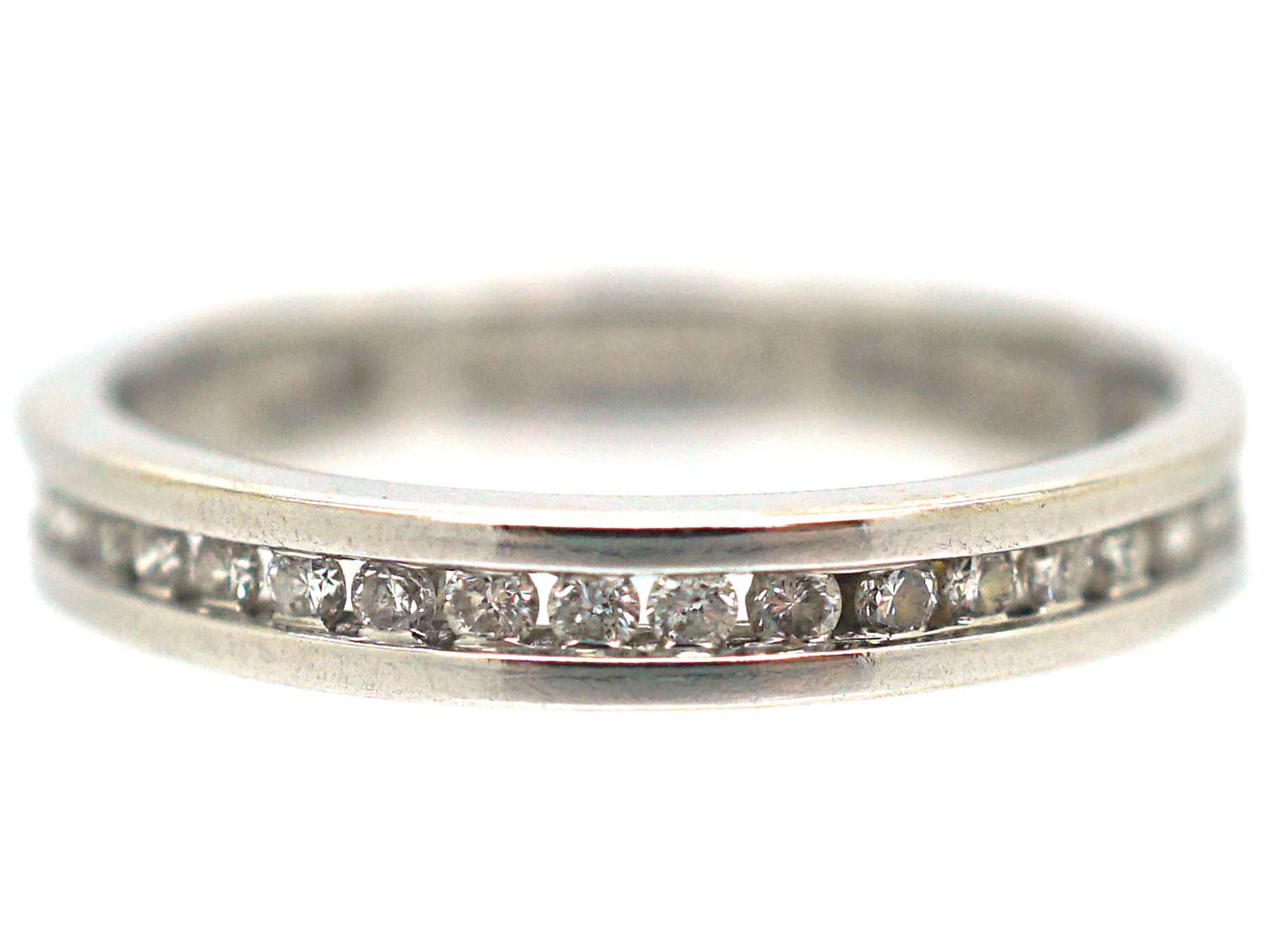 18ct White & Diamond Gold Eternity Ring