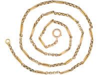 Edwardian 9ct Gold Medium Length Chain