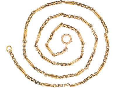 Edwardian 9ct Gold Medium Length Chain