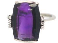 Art Deco Amethyst & Diamond Ring