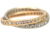 Pair of Interlinking Diamond Eternity Rings