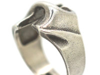 Silver Modernist Ring by Lapponia